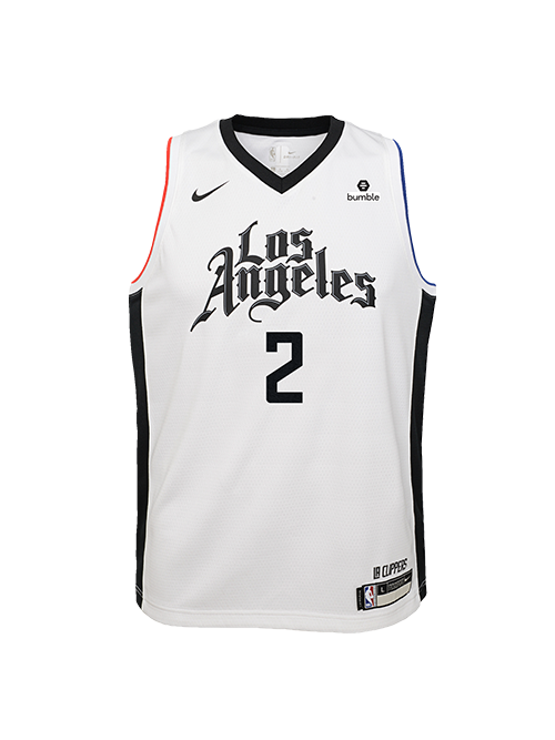 PRE-ORDER LA Clippers Youth Kawhi Leonard City Edition Swingman Jersey - White