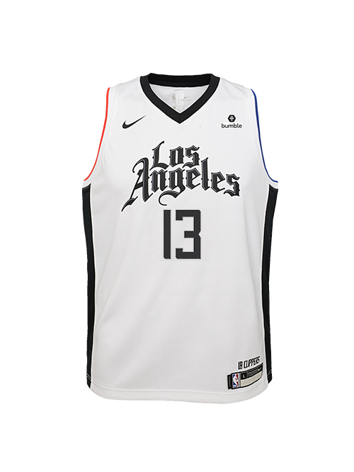 LA Clippers Youth Paul George City Edition Swingman Jersey - White