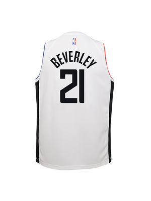 LA Clippers Youth Patrick Beverley City Edition Swingman Jersey - White