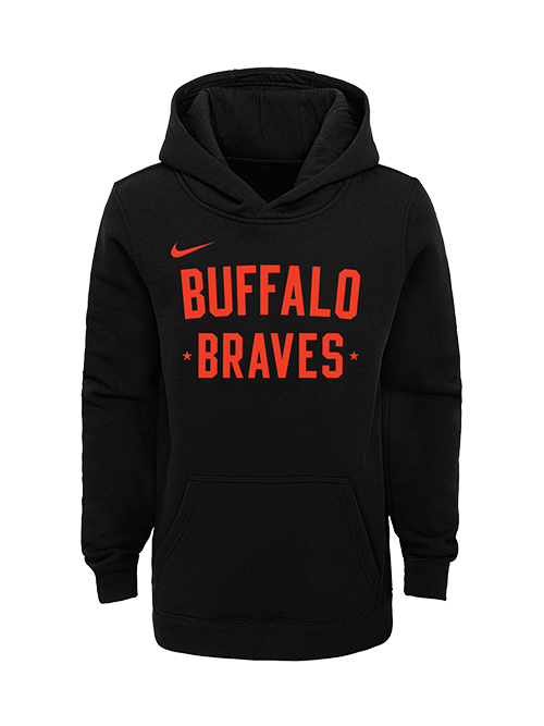 LA Clippers Classic Edition Buffalo Braves Youth Club Fleece Hoodie - Black