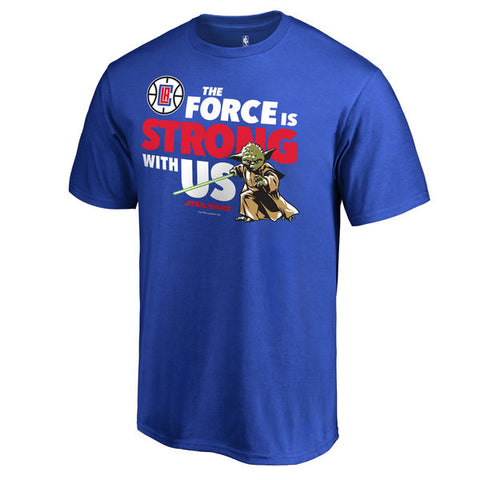 LA Clippers Jedi Strong Star Wars T-Shirt