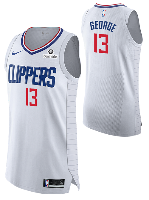 LA Clippers Paul George Authentic Association Jersey