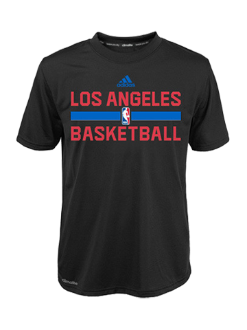 LA Clippers Kids On Court Practice Graphic T-Shirt