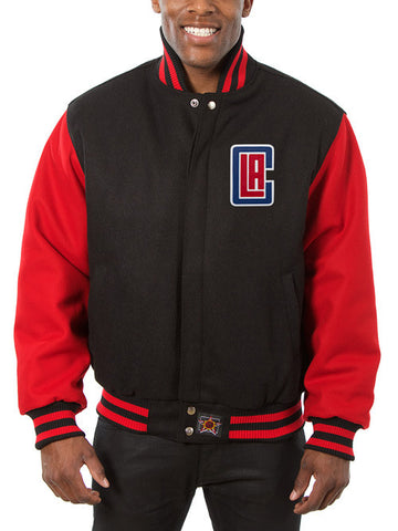 Los Angeles Clippers Wool Jacket - Black/Red