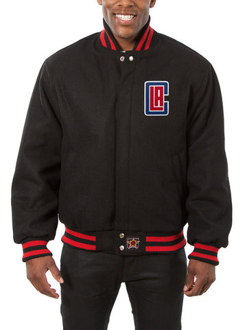 LA Clippers Wool Jacket - Black