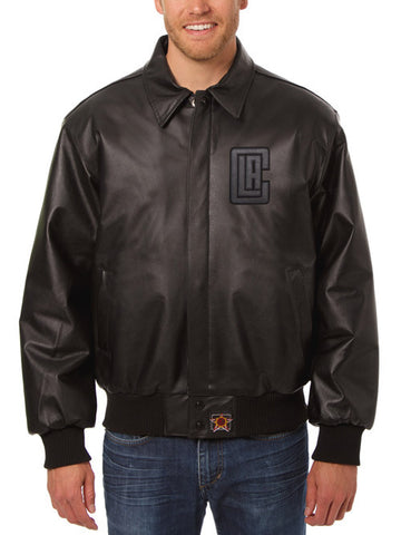 Los Angeles Clippers Leather Jacket - Black