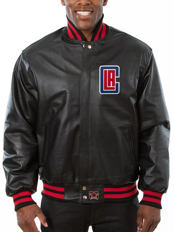 LA Clippers All Leather Jacket - Black