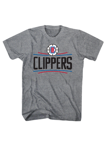 Los Angeles Clippers Primary Logo Scrum T-Shirt - Grey