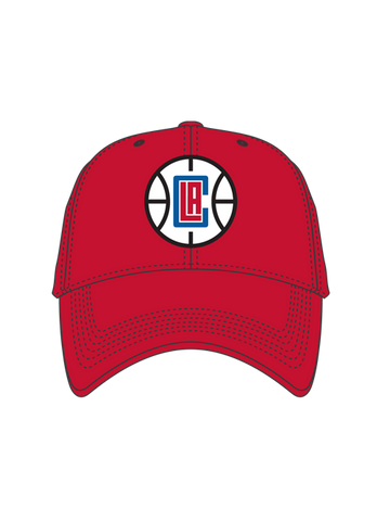 Los Angeles Clippers Basketball Logo Slouch Cap - Red