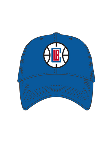 Los Angeles Clippers Basketball Logo Slouch Cap - Blue