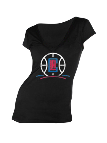 Los Angeles Clippers Women's Basketball V-Neck T-Shirt