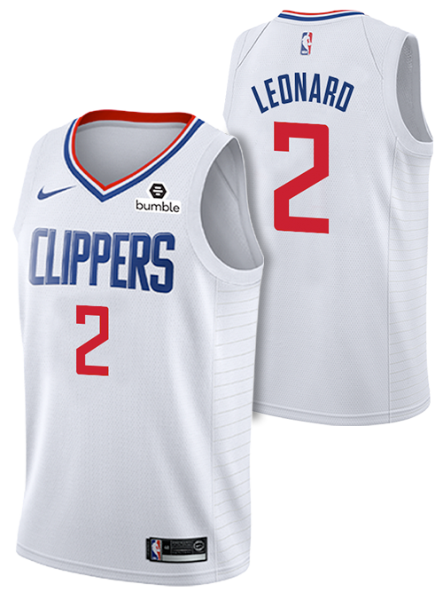 new concept 0b36c fbace LA Clippers Kawhi Leonard Association Swingman Jersey