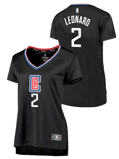LA Clippers Women's Kawhi Leonard Statement V-Neck Replica Jersey
