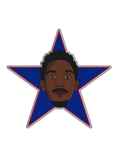 LA Clippers Lou Williams Fan Patch Face