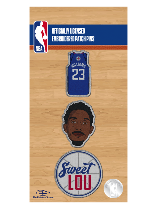 LA Clippers Lou Williams Patch Pin Set - 3pack