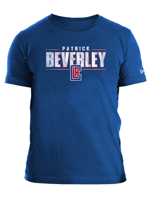 LA Clippers Patrick Beverley Distressed Name T-Shirt