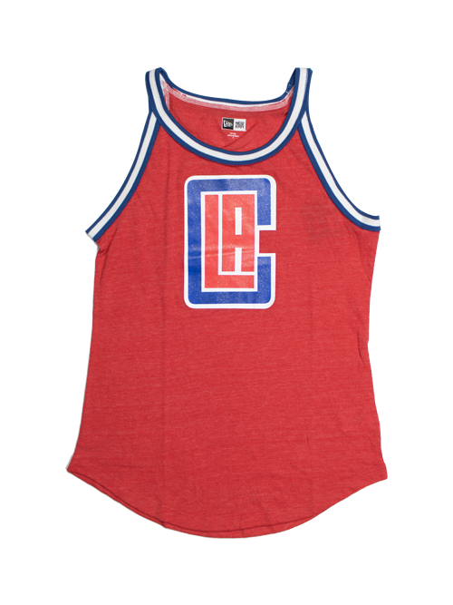 LA Clippers Women's Triblend Striped Tank