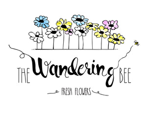 The Wandering Bee Flower Farm logo