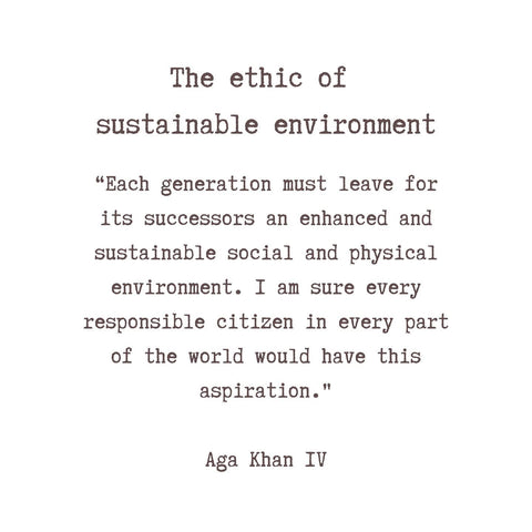 Aga Khan Quote on Sustainability