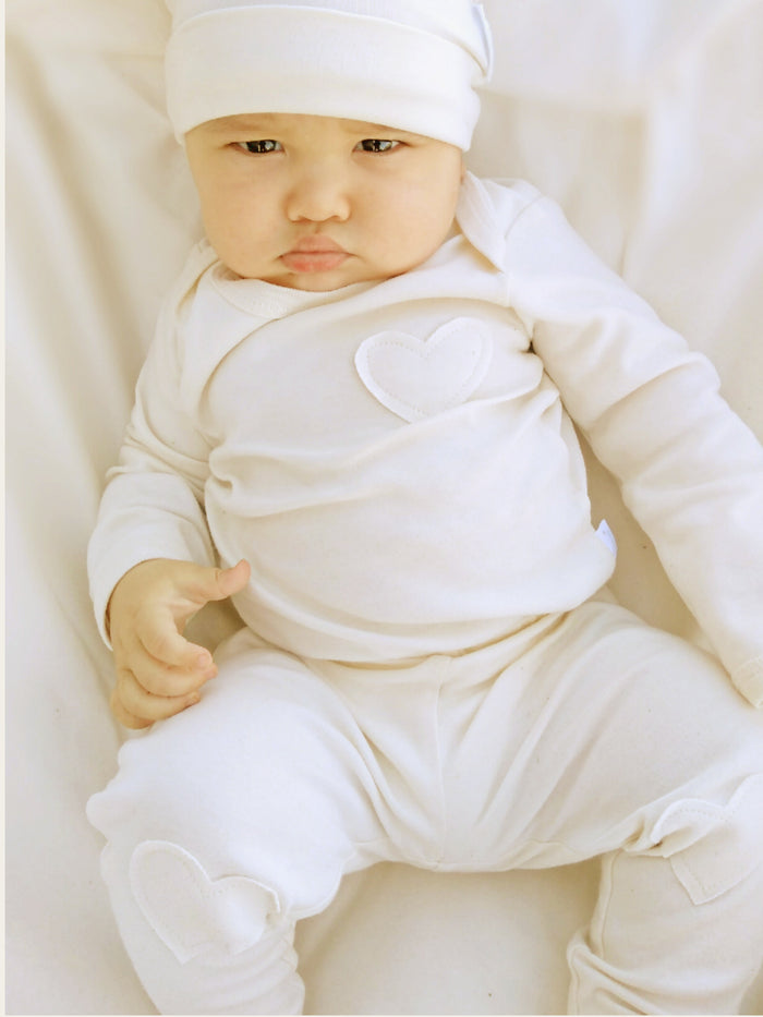 Nature's Hug: Unisex Organic Baby Pants/Leggings - Unbleached and Undyed