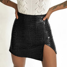 Load image into Gallery viewer, Hedi Croc Embossed Skirt - 82 Ave