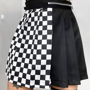 Checkmate Pleated Skirt - 82 Ave