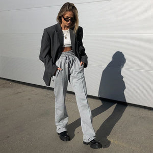 Creased Wide Leg Sweats - 82 Ave