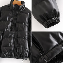 Load image into Gallery viewer, Tabloid Faux Leather Parka - 82 Ave