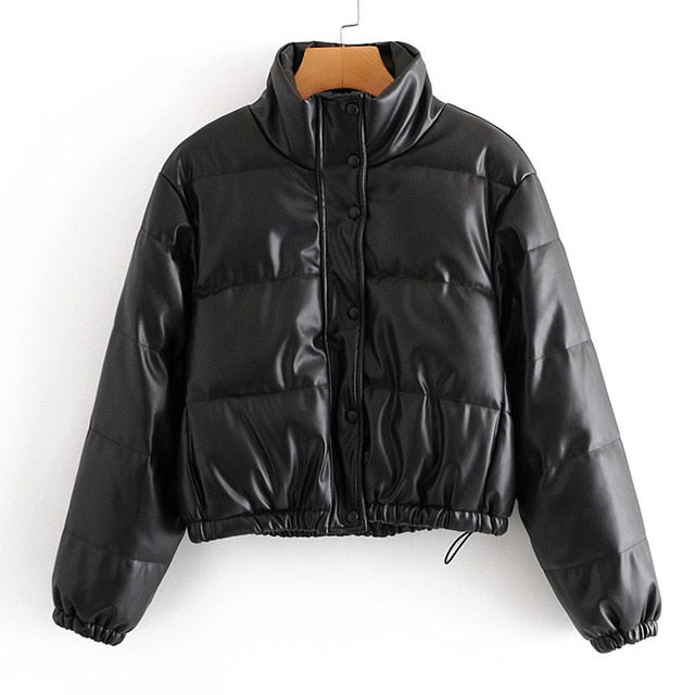 Tabloid Faux Leather Parka - 82 Ave