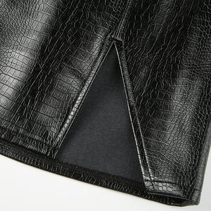 Hedi Croc Embossed Skirt - 82 Ave