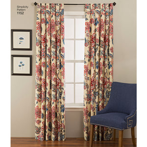 Kaava Simplicity 1152 - Window Treatments | Kuva 1