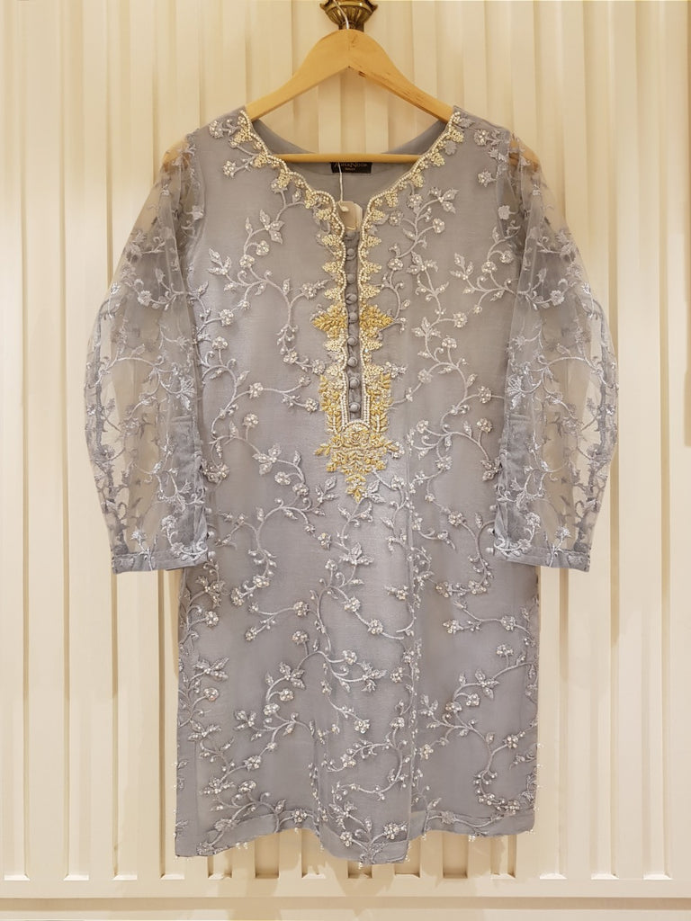 PURE POLYESTER NET SHIRT S100235