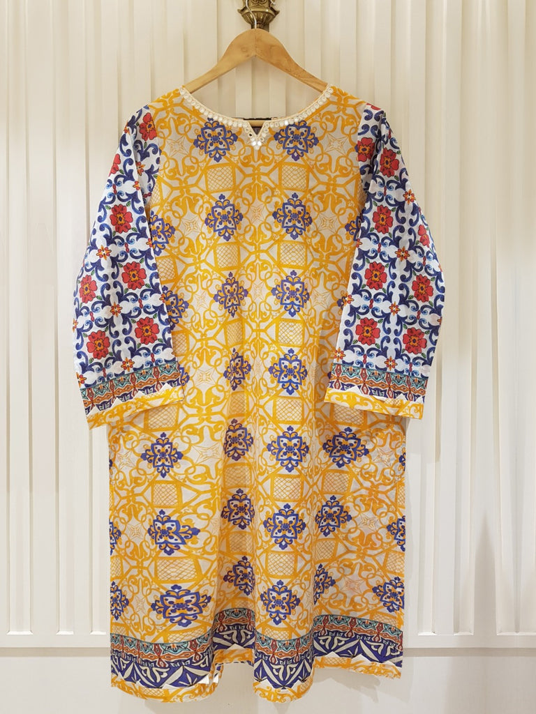 PURE PRINTED LAWN SHIRT S100369