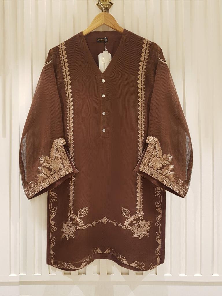 PURE COTTON NET SHIRT S101172