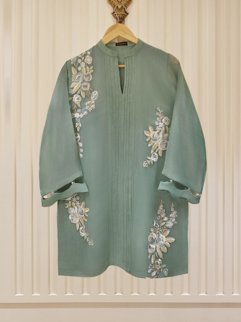 PURE COTTON NET SHIRT S101421