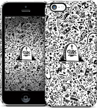Load image into Gallery viewer, Death to Clubs iPhone Case