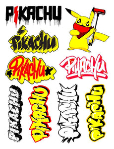 Street Art Pikachu Sticker Pack