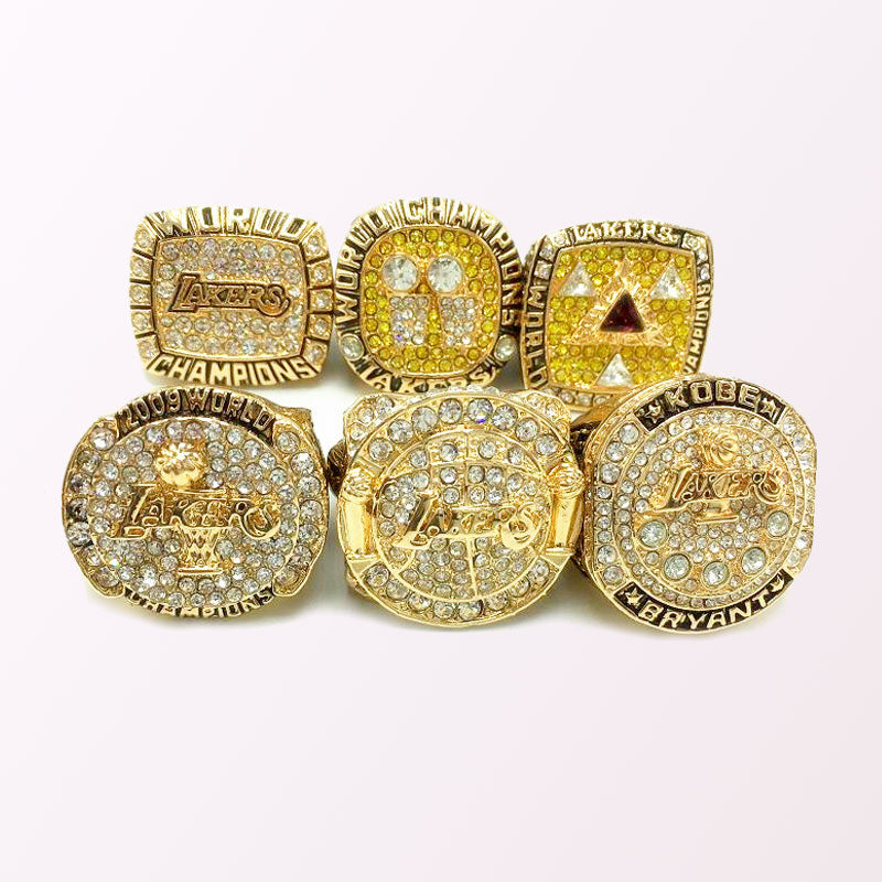 Los Angeles Lakers NBA Basketball Championship Rings Full ...
