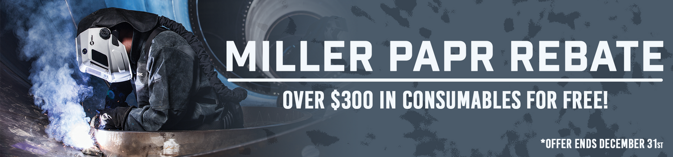 Miller T94 Helmet PAPR Rebate for free consumables
