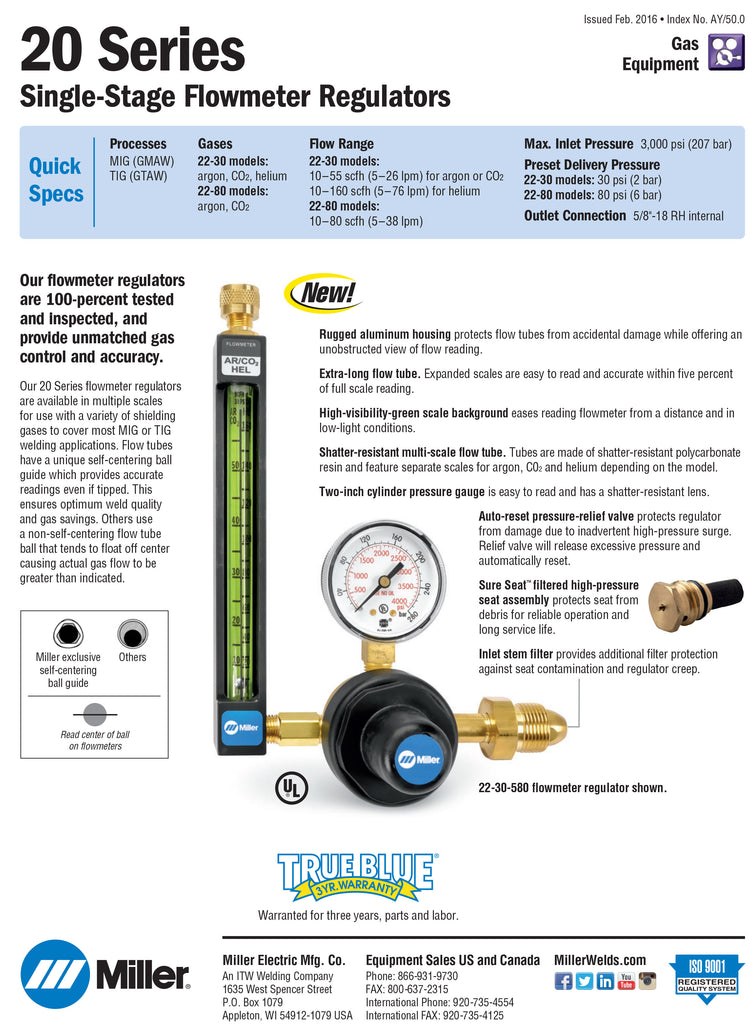 20 Series Flow Meter Spec Sheet