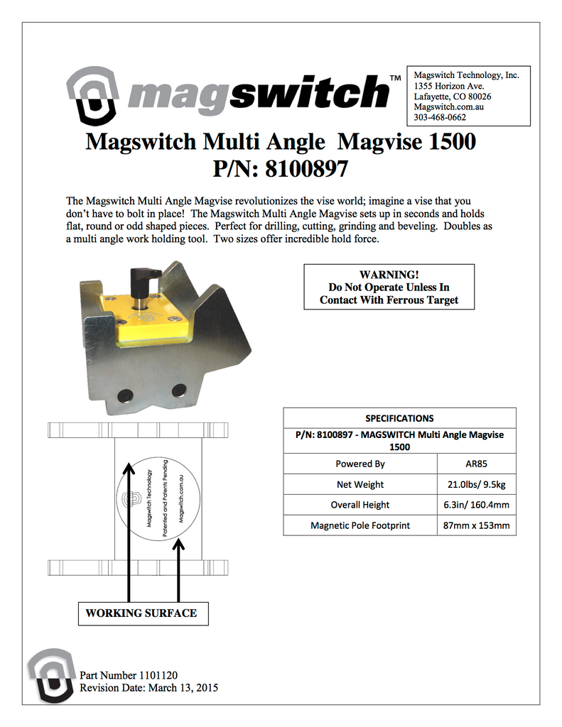 Magswitch MagVise 1500 - 8100897