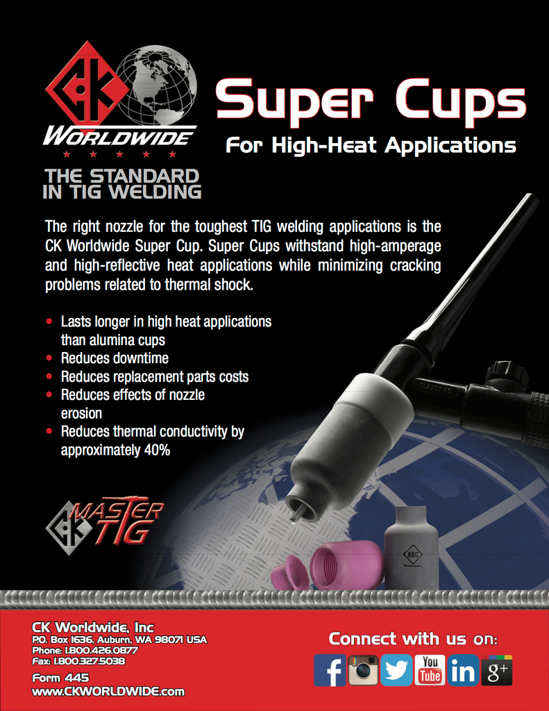 CK Worldwide Super Cup Data and Specification Sheet