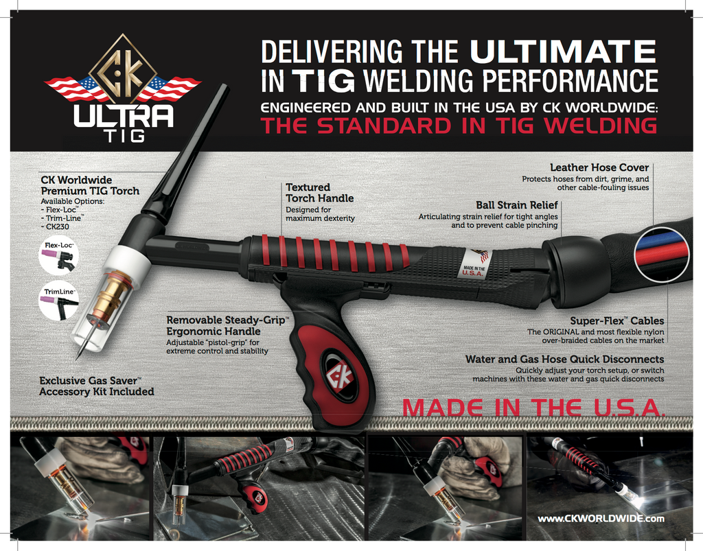 CK Worldwide UltraTIG Specifications and Data Sheet