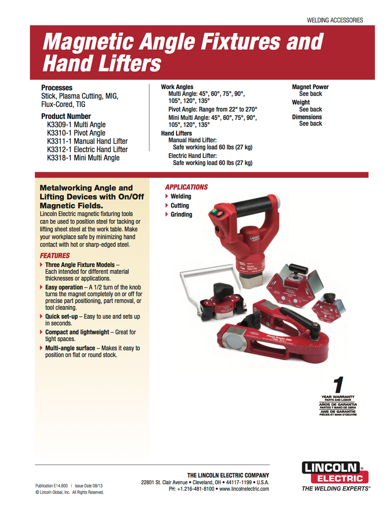 Lincoln Electric Hand Lifter - K3312-1