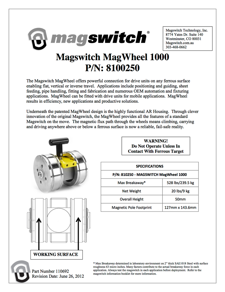 Magswitch MagWheel 1000 - 8100250
