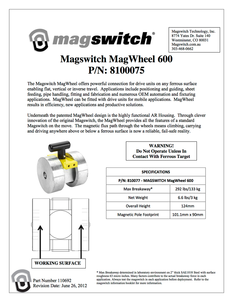 Magswitch MagWheel 600 - 8100075
