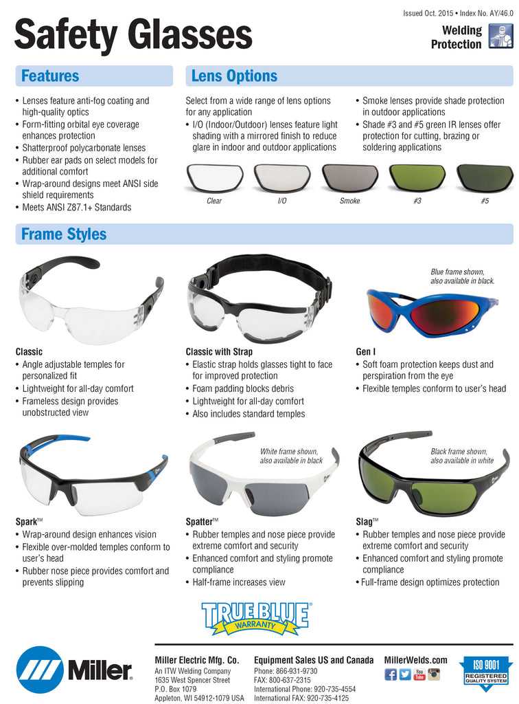 Miller Safety Glasses
