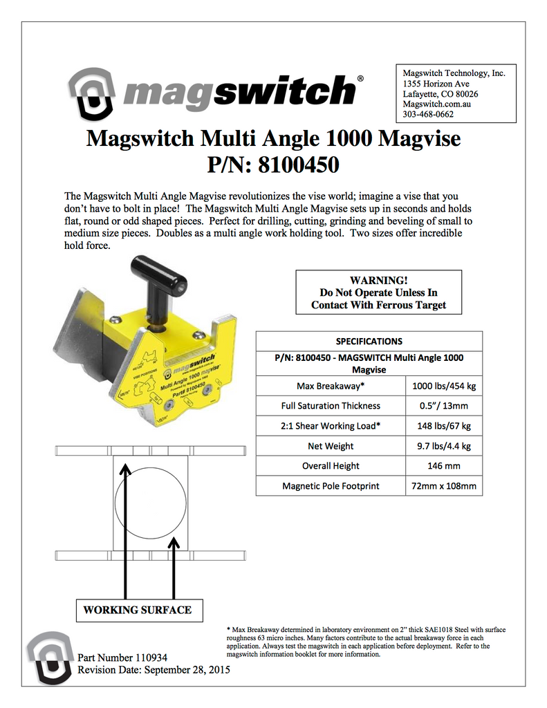 Magswitch MagVise 1000 - 8100450