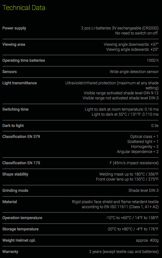 OPT1008000 Specification Sheet