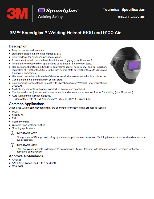 3M35-1101-30iSW Specification Sheet